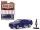 2013 Dodge Charger Super Bee Metallic Purple Black Stripes Woman in Dress Figure The Hobby Shop Series 6 1/64 Diecast Model Car Greenlight 97060 F