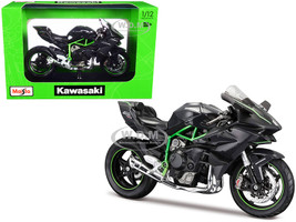 Kawasaki Ninja H2 R Black Carbon Plastic Display Stand 1/12 Diecast Motorcycle Model Maisto 16880-32708