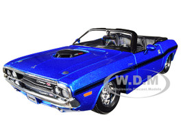 1970 Dodge Challenger R/T Convertible Metallic Blue 1/24 Diecast Model Car Maisto 31264