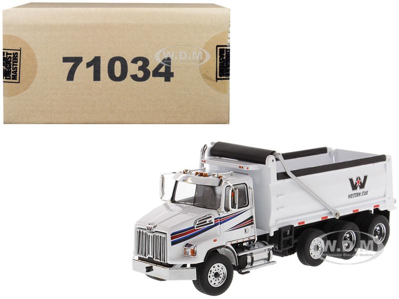 Western Star 4700 SB Dump Truck White 1/50 Diecast Model Diecast Masters 71034