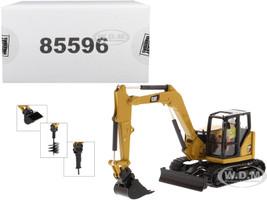 CAT Caterpillar 308 CR Next Generation Mini Hydraulic Excavator with Work Tools Operator High Line Series 1/50 Diecast Model Diecast Masters 85596