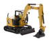 CAT Caterpillar 308 CR Next Generation Mini Hydraulic Excavator with Work Tools Operator High Line Series 1/50 Diecast Model Diecast Masters 85596