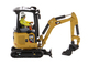 CAT Caterpillar 301.7 CR Next Generation Mini Hydraulic Excavator with Work Tools Operator High Line Series 1/50 Diecast Model Diecast Masters 85597