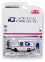 USPS United States Postal Service LLV Postal Mail Delivery Vehicle Mail Carrier Mailbox Accessories Limited Edition 4600 pieces Worldwide 1/64 Diecast Model Car Greenlight 51280