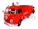 Volkswagen Type 2 T1 Fire Van Fire Fighting Trailer Feuerwehr Red 1/24 Diecast Model Car Motormax 79671