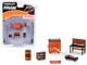 Greenlight Muscle 6 piece Set Shop Tools FRAM Oil Filters 1/64 Greenlight 13173
