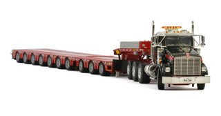 Kenworth T800 Day Cab 8x4 Mammoet 7-Axle Lowboy 3-Axle Dolly 1/50 Diecast Model WSI Models 02-2161 410232