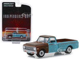 1971 Chevrolet C-10 Pickup Truck Weathered Independence Day 1996 Movie Hollywood Series Release 24 1/64 Diecast Model Car Greenlight 44840 D