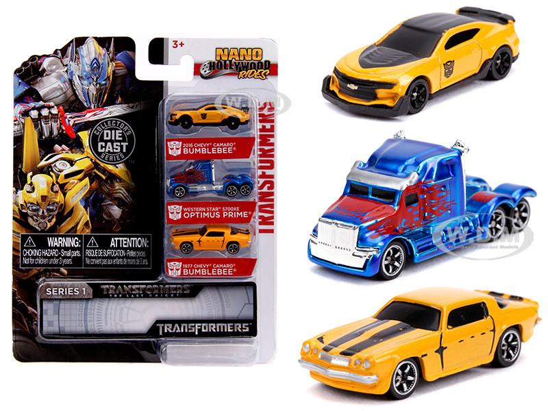 Transformers 3 piece Set Nano Hollywood Rides Series 1 Diecast Models Jada 31125