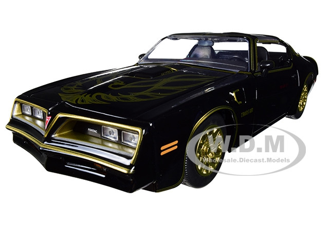 1977 Pontiac Firebird Trans Am Black Replica Buckle Smokey and the Bandit 1977 Movie Hollywood Rides Series 1/24 Diecast Model Car Jada 30998