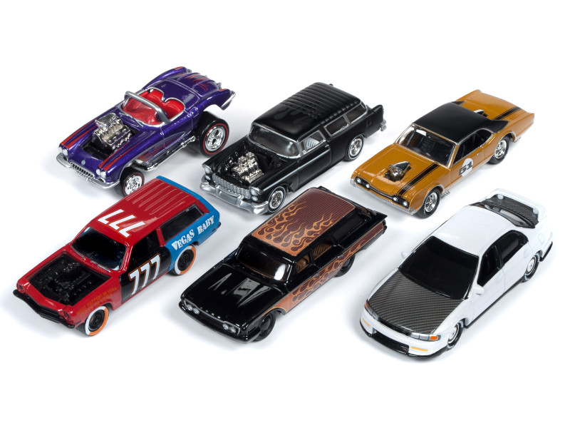 Street Freaks 2019 Release 2 Set A 6 Cars Limited Edition 3000 pieces Worldwide 1/64 Diecast Models Johnny Lightning JLSF013 A