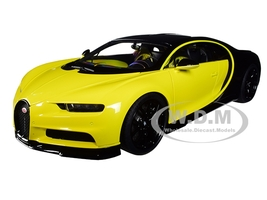 Bugatti Chiron Jaune Molsheim Yellow Nocturne Black 1/18 Model Car Autoart 70994