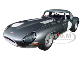 Jaguar Lightweight E Type Roadster RHD Right Hand Drive Dark Silver 1/18 Model Car Autoart 73646