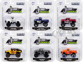 Just Trucks Set 6 Trucks Series 23 1/64 Diecast Model Cars Jada 14020-W23