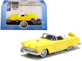 1956 Ford Thunderbird Goldenglow Yellow Colonial White Top 1/87 HO Scale Diecast Model Car Oxford Diecast 87TH56005