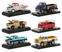 Auto Trucks 6 Pickup Trucks Set Release 54 DISPLAY CASES 1/64 Diecast Model Cars M2 Machines 32500-54