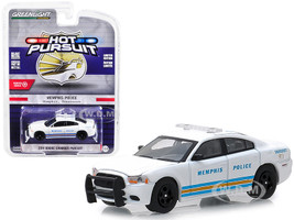 2011 Dodge Charger Pursuit Memphis Tennessee Police White Stripes Hot Pursuit Series 31 1/64 Diecast Model Car Greenlight 42880 E