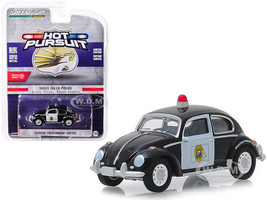 Classic Volkswagen Beetle Sioux Falls South Dakota Police Black White Hot Pursuit Series 31 1/64 Diecast Model Car Greenlight 42880 F