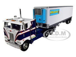 Peterbilt 352 COE Sleeper Cab 40' Vintage Thermo King Reefer Refrigerated Trailer Novajo 27th in a Fallen Flags Series 1/64 Diecast Model DCP First Gear 60-0550