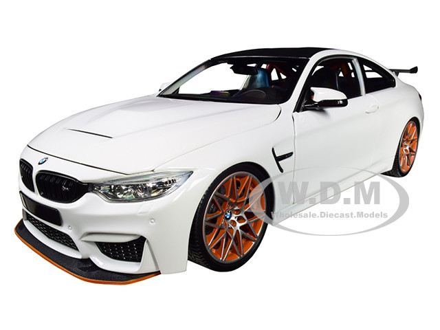 2016 Bmw M4 Gts White With Carbon Top And Orange Wheels Limited Edition To 402 Pieces Worldwide 1 18 Diecast Model Car By Minichamps