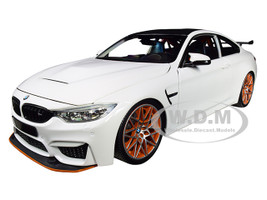 2016 BMW M4 GTS White Carbon Top Orange Wheels Limited Edition 402 pieces Worldwide 1/18 Diecast Model Car Minichamps 110025221