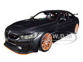 2016 BMW M4 GTS Metallic Gray Carbon Top Orange Wheels Limited Edition 402 pieces Worldwide 1/18 Diecast Model Car Minichamps 110025222