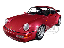 1990 Porsche 911 Turbo Metallic Red Limited Edition 504 pieces Worldwide 1/18 Diecast Model Car Minichamps 155069102