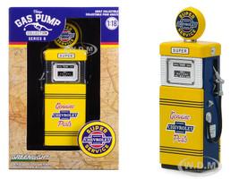 1951 Wayne 505 Gas Pump Chevrolet Super Service Vintage Gas Pumps Series 6 1/18 Diecast Model Greenlight 14060 B