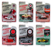 Running on Empty Series 8 Set 6 pieces 1/64 Diecast Model Cars Greenlight 41080