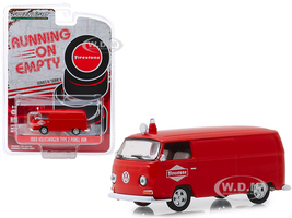 1969 Volkswagen Type 2 Panel Van Red Firestone Tire Service Running on Empty Series 8 1/64 Diecast Model Car Greenlight 41080 D