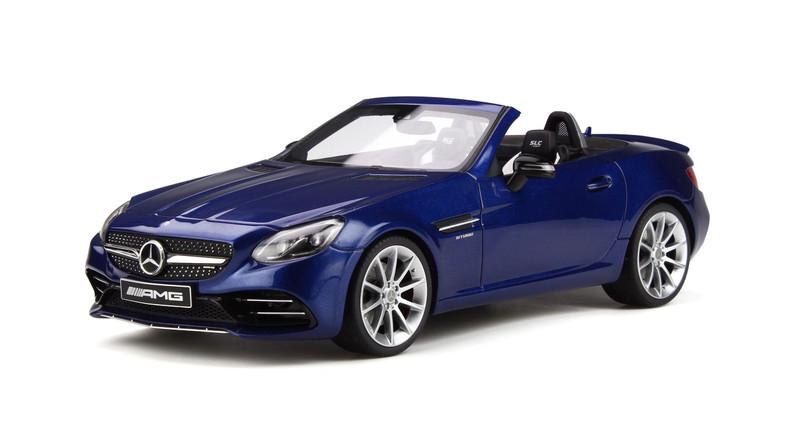 Mercedes AMG SLC 43 Roadster Dark Brilliant Blue Limited Edition 500 pieces Worldwide 1/18 Model Car GT Spirit GT233