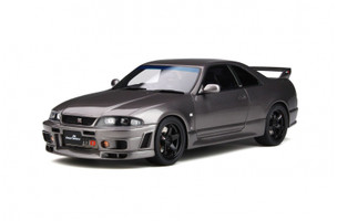 Nissan Skyline GT-R BCNR33 Grand Touring Car Omori Factory Gray Limited Edition 2000 pieces Worldwide 1/18 Model Car Otto Mobile OT758