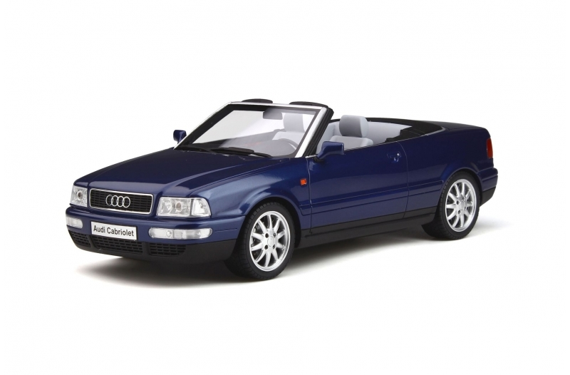 Audi 80 Cabriolet Santorini Blau Dark Blue Limited Edition 999 pieces Worldwide 1/18 Model Car Otto Mobile OT806