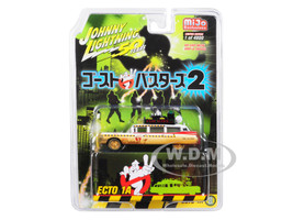 1959 Cadillac Eldorado Ambulance Ecto-1A Dirty Version Ghostbusters II 1989 Movie Japanese Retro Packaging Limited Edition 4800 pieces Worldwide 1/64 Diecast Model Car Johnny Lightning JLCP7204