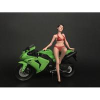 Hot Bike Model Elizabeth Figurine for 1/12 Scale Motorcycle Models American Diorama 38374