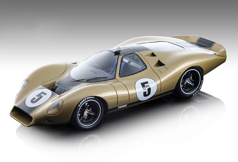 1968 Ford P68 #5 Alan Mann Press Version Metallic Gold Mythos Series Limited Edition 50 pieces Worldwide 1/18 Model Car Tecnomodel TM18-88 E