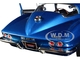 1967 Chevrolet Corvette 427 Stingray Coupe Marina Blue Metallic MCACN 10th Anniversary Muscle Car & Corvette Nationals Limited Edition 1002 pieces Worldwide 1/18 Diecast Model Car Autoworld AMM1176