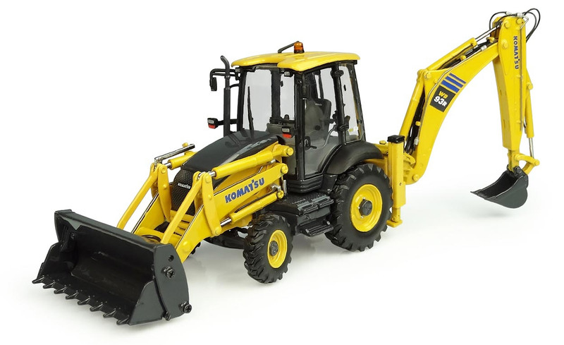 Komatsu WB93R-8 Backhoe Loader 1/50 Diecast Model Universal Hobbies UH8142