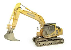 Komatsu PC210LC-11 Tracked Excavator Muddy Version 1/50 Diecast Model Universal Hobbies UH8144