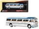 1959 GM PD4104 Motorcoach Greyhound Golden Scheme Baltimore Maryland Greyhound 50th Anniversary Vintage Bus  Motorcoach Collection 1/87 Diecast Model Iconic Replicas 87-0145