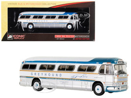 1959 GM PD4104 Motorcoach Greyhound Golden Scheme Baltimore Maryland Greyhound 50th Anniversary Vintage Bus  Motorcoach Collection 1/87 Diecast Model Iconic Replicas 87-0145