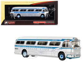 1959 GM PD4104 Motorcoach Greyhound Blue Scheme Minneapolis Minnesota Vintage Bus Motorcoach Collection 1/87 Diecast Model Iconic Replicas 87-0149