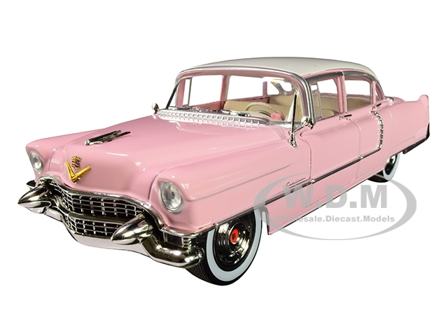 1955 Cadillac Fleetwood Series 60 Pink Cadillac Elvis Presley 1935 1977 1/24 Diecast Model Car Greenlight 84092