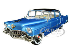 1955 Cadillac Fleetwood Series 60 Blue Cadillac Elvis Presley 1935 1977 1/24 Diecast Model Car Greenlight 84093