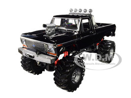1979 Ford F-250 Ranger XLT Monster Truck Black 48-Inch Tires Kings of Crunch 1/18 Diecast Model Car Greenlight 13538