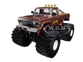 1979 Ford F-250 Ranger Monster Truck 66-Inch Tires Goliath Kings of Crunch 1/18 Diecast Model Car Greenlight 13540