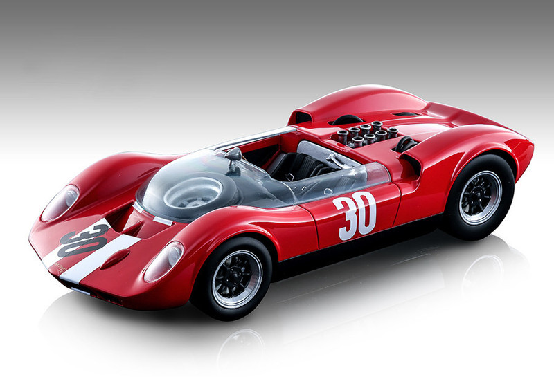 McLaren Elva Mark 1 #30 Charles Vogele Winner Aspern Grand Prix 1965 Team Oasc Mythos Series Limited Edition 80 pieces Worldwide 1/18 Model Car Tecnomodel TM18-86 B
