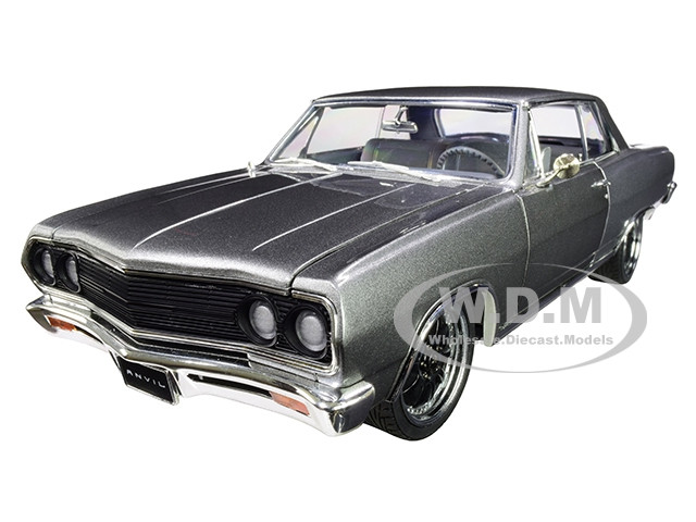 1965 Chevrolet Chevelle The Anvil Metallic Gray Limited Edition 384 pieces Worldwide 1/18 Diecast Model Car ACME A1805514