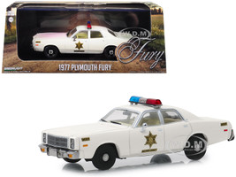 1977 Plymouth Fury Cream Hazzard County Sheriff 1/43 Diecast Model Car Greenlight 86558