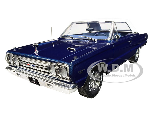 1967 Plymouth Belvedere GTX Convertible Dark Blue Graveyard Carz 2012 TV Series 1/18 Diecast Model Car Greenlight 19059